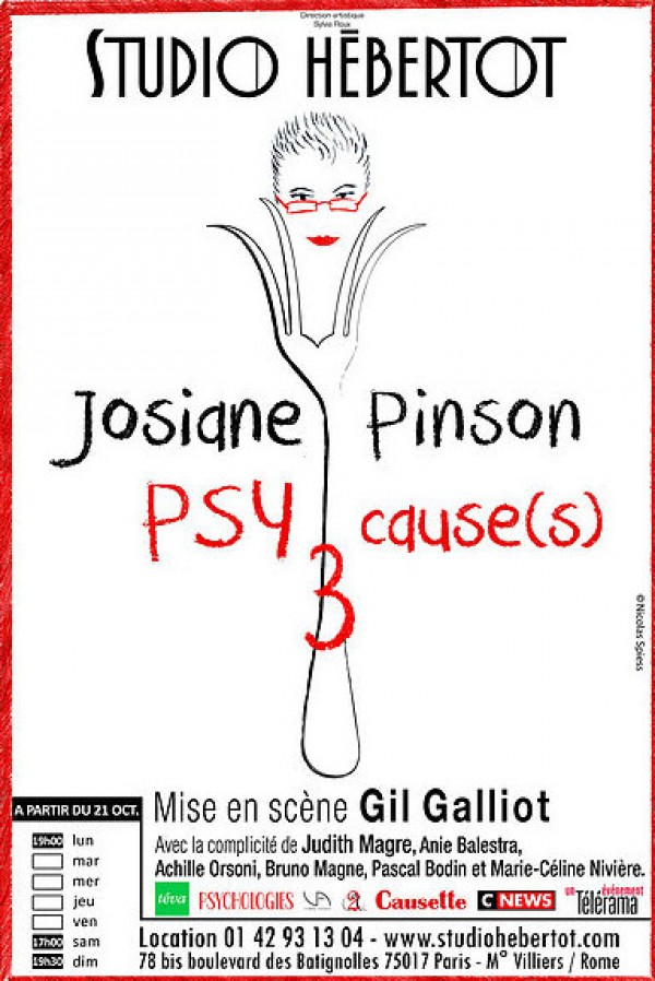 Josiane Pinson : PSYcause(s) 3 au Studio Hébertot