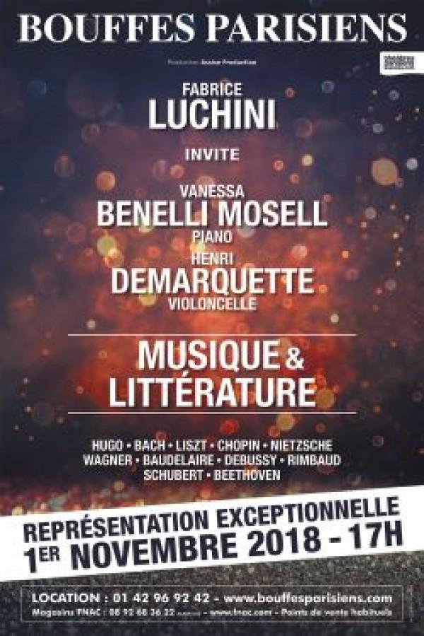 Fabrice Luchini : Musique et littérature au Théâtre des Bouffes Parisiens