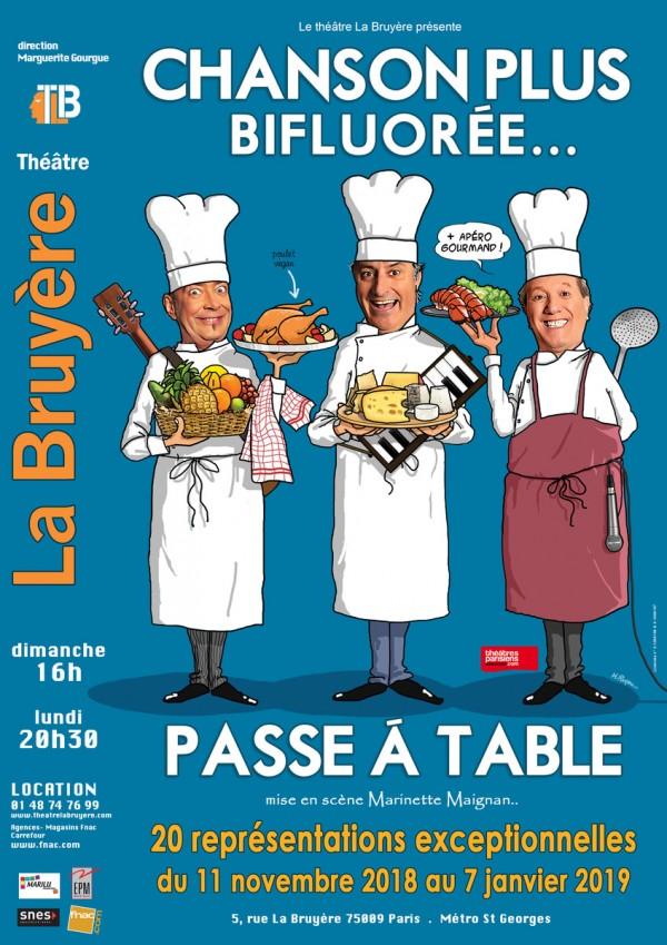 Chanson Plus Bifluorée... passe à table au Théâtre La Bruyère