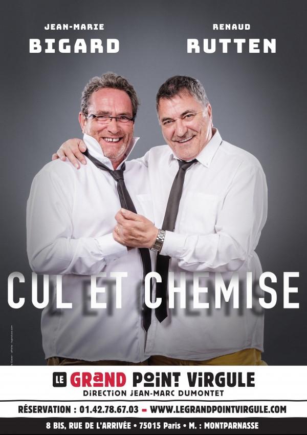 Jean-Marie Bigard et Renaud Rutten : Cul et chemise au Grand Point Virgule