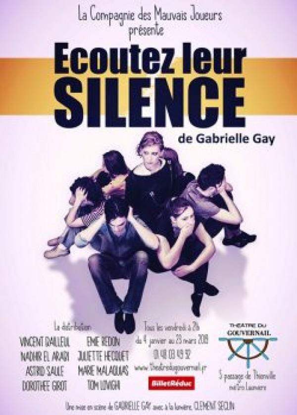 Écoutez leur silence au Théâtre du Gouvernail
