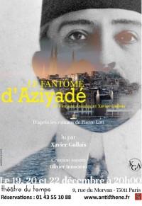 Le Fantôme d'Aziyadé au Théâtre du Temps