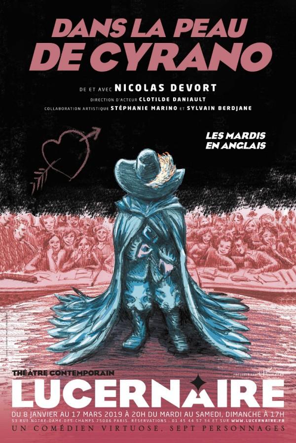 Dans la peau de Cyrano au Théâtre du Lucernaire