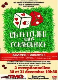 Un petit jeu sans conséquence au Théâtre Montmartre Galabru