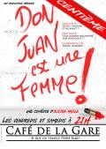Don Juan est une femme ! au Café de la Gare