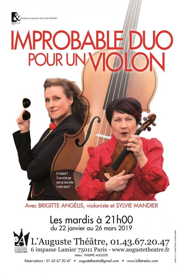 Improbable duo pour un violon à L'Auguste Théâtre