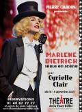 Marlene Dietrich par Cyrielle Clair au Théâtre de la Tour Eiffel