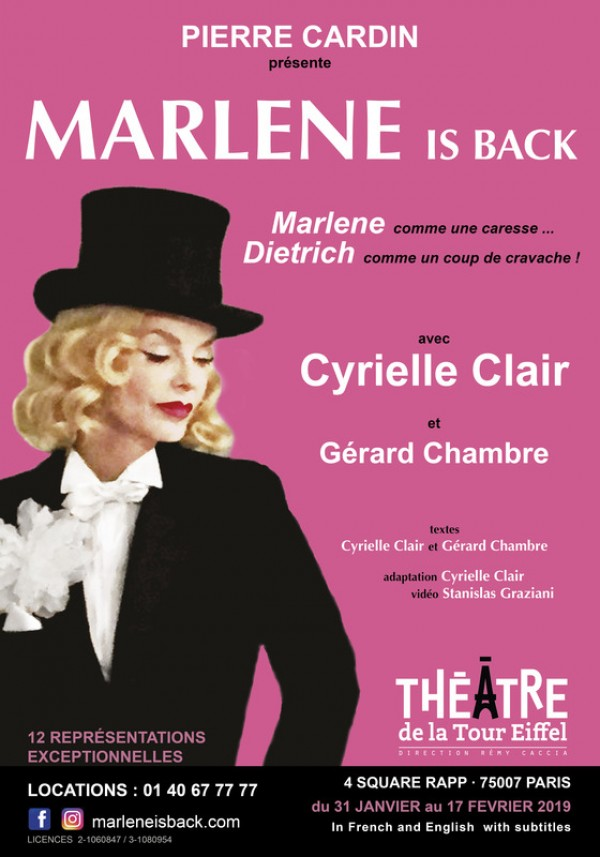 Marlene is Back au Théâtre de la Tour Eiffel