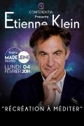 Étienne Klein : Récréation à méditer au Théâtre de la Madeleine