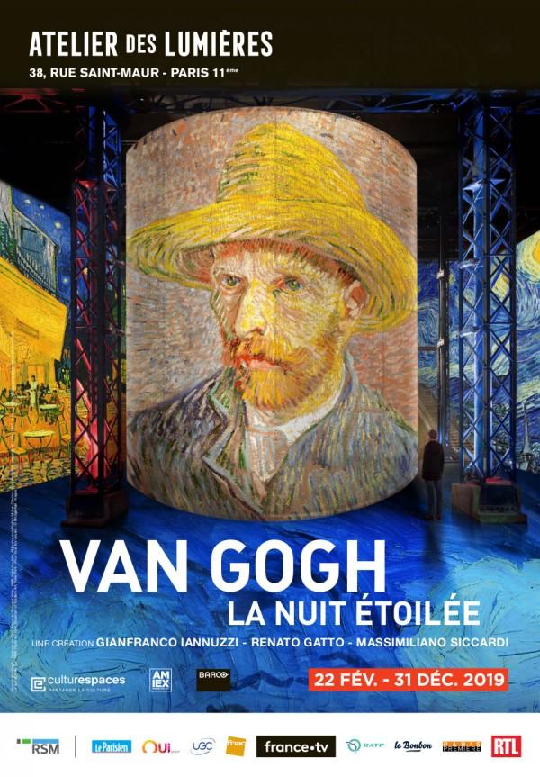 Van Gogh, La nuit étoilée à l'Atelier des Lumières
