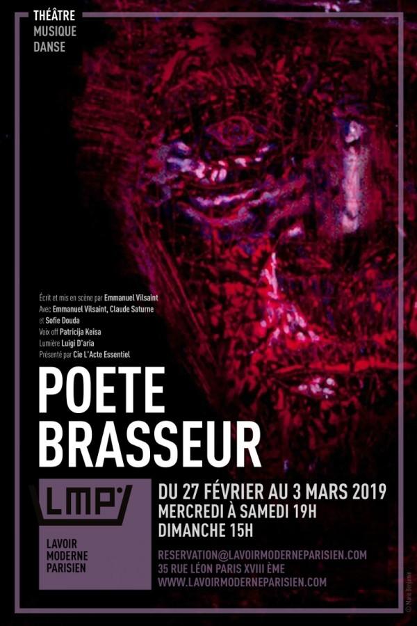 Poète brasseur au Lavoir Moderne Parisien