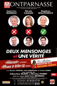 Deux mensonges et une vérité au Théâtre Montparnasse