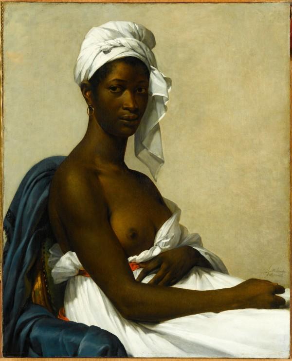 Marie Guillemine Benoist (1768-1826) Portrait de Madeleine, 1800 Dit aussi Portrait d'une femme noire ; présenté au Salon de 1800 sous le titre Portrait d'une Négresse Huile sur toile, 81 x 65 cm