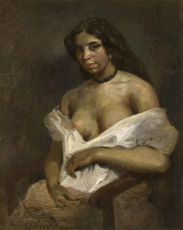 Eugene Delacroix (1798-1863) Étude d'après le modèle Aspasie, vers 1824-1826 Huile sur toile, 81 × 65 cm
