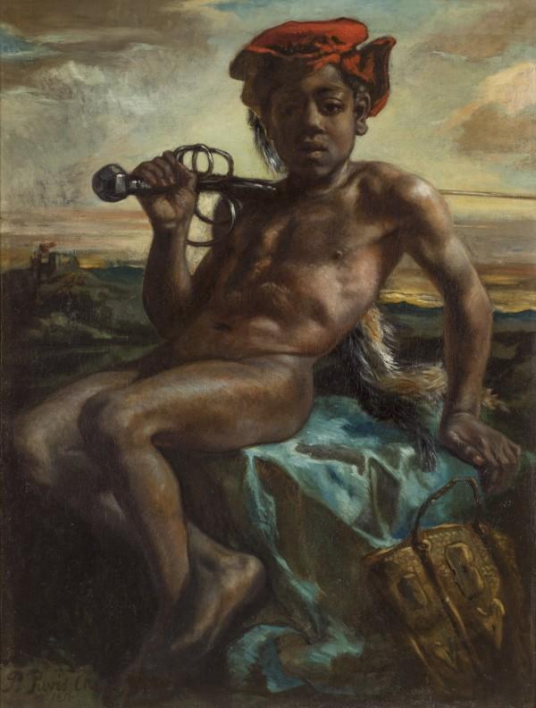 Pierre Puvis de Chavannes (1824-1898) Jeune Noir à l'épée, 1848-1849 Huile sur toile, 105 × 73 cm