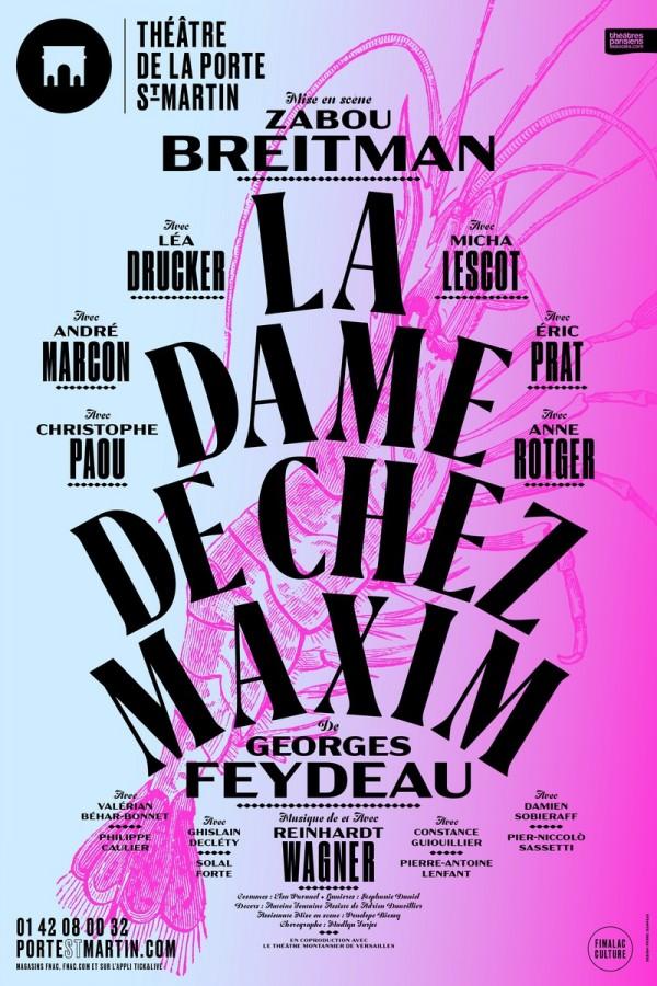 La Dame de chez Maxim au Théâtre de la Porte Saint-Martin