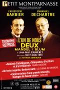 L'Un de nous deux – Mandel / Blum au Théâtre Montparnasse