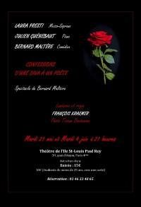 Confessions d'une Diva à un Poète au Théâtre de l'Île Saint-Louis