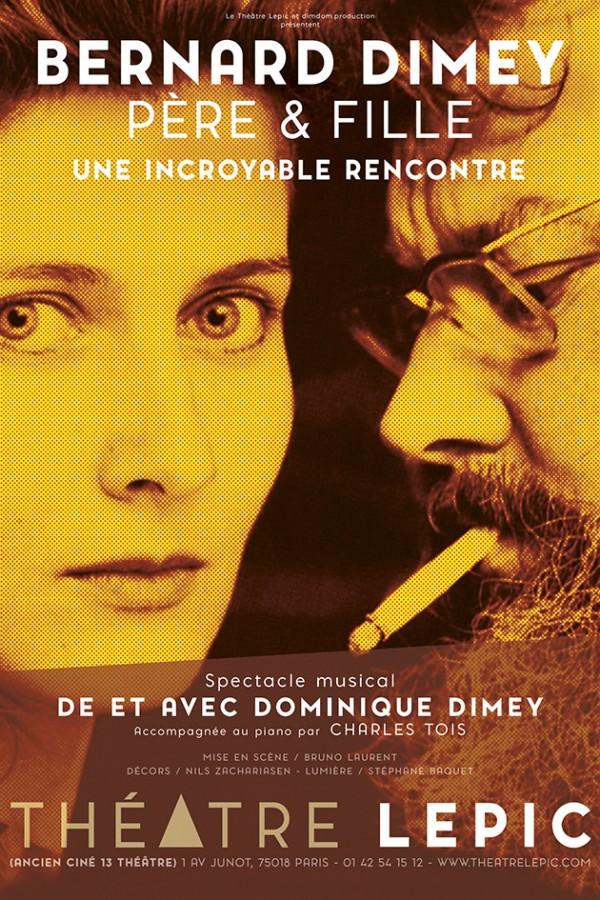 Bernard Dimey père et fille au Théâtre Lepic