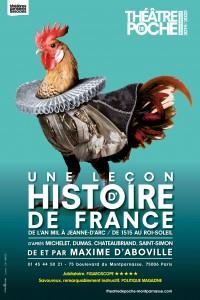 Une leçon d'histoire de France au Théâtre de Poche-Montparnasse