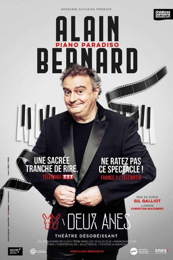 Piano Paradiso : Alain Bernard au Théâtre des Deux Ânes