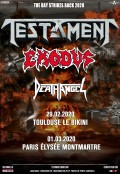Testament, Exodus et Death Angel à l'Élysée Montmartre