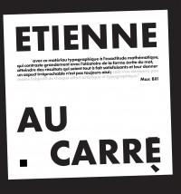 Affiche de l'exposition Étienne Robial, Étienne au carré à la Maison d'art Bernard Anthonioz