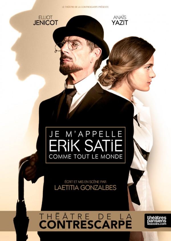 Je m'appelle Erik Satie comme tout le monde au Théâtre de la Contrescarpe