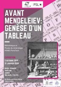 Avant Mendeleïev : genèse d'un tableau au Musée de Minéralogie