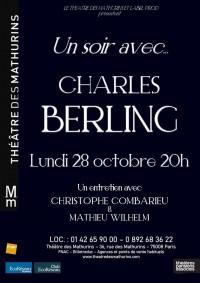 Un soir avec… Charles Berling au Théâtre des Mathurins