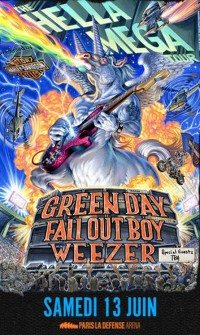 Green Day, Fall Out Boy et Weezer en concert