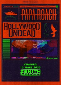 Papa Roach et Hollywood Undead au Zénith