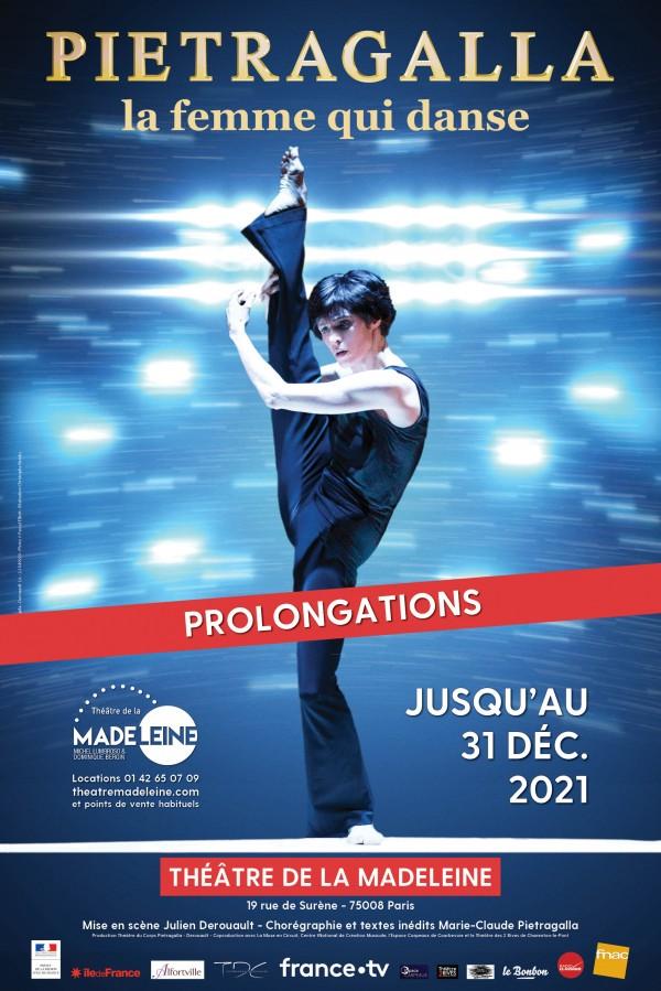 Pietragalla : La femme qui danse au Théâtre de la Madeleine - Affiche