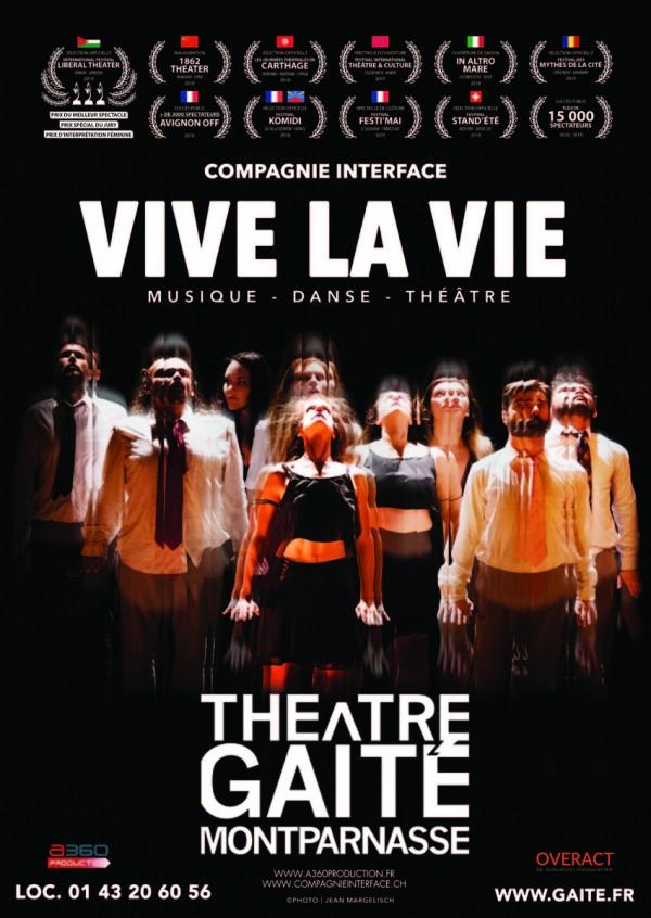 Vive la vie au Théâtre de la Gaîté-Montparnasse