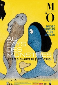 Affiche de l'exposition Au pays des monstres : Léopold Chauveau (1870-1940) au Musée d'Orsay