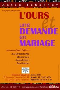 L'Ours et Une demande en mariage - Flyer recto