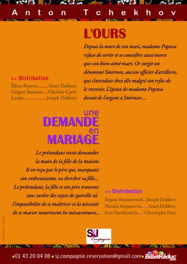 L'Ours et Une demande en mariage - Flyer verso