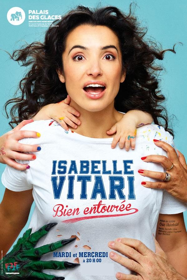 Isabelle Vitari : Bien entourée au Palais des Glaces