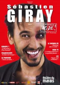 Sébastien Giray : Un bonheur acide ! au Théâtre du Marais