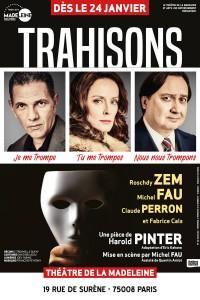 Trahisons au Théâtre de la Madeleine