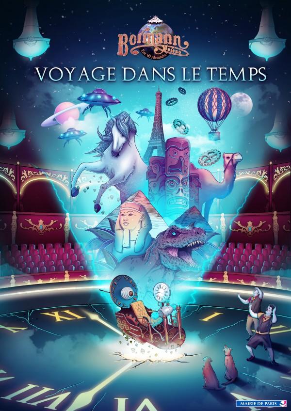 Voyage dans le Temps - Affiche du spectacle