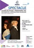 Olympe de Gouges - Robespierre, une histoire de la Révolution Française au Centre Paris Anim' La Jonquière