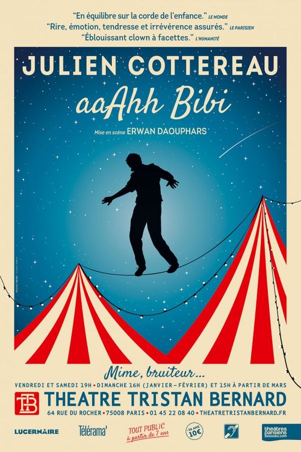 Julien Cottereau : aaAhh BiBi au Théâtre Tristan-Bernard