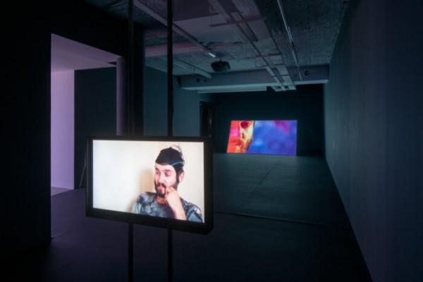 Vue de l'exposition Ben Russell, La montagne invisible, le plateau, frac île-de-france, 2020.