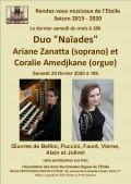 Coralie Amedjkane et Ariane Zanatta en concert