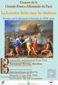 La Chorale franco-allemande de Paris et Ensemble instrumental Fons Vitae en concert
