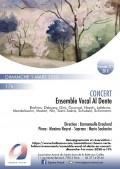 Ensemble vocal Al Dente, Maxime Neyret et Marie Soubestre en concert