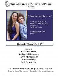 Nathalie Dang, Kathyrn Potter et Marika Lombardi en concert