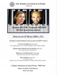 Ariane Jacob et François Henry à l'Église américaine