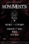 Monuments et Heart of a Coward en concert